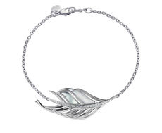 Shaun Leane Sterling Silver, Diamond & Mother of Pearl White Feather Bracelet SLS653