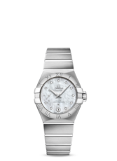 Omega Constellation Omega Co-Axial Master Chronometer Mother of Pearl Dial Stainless Steel Womens Watch 12710272055001