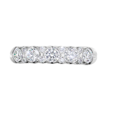 E W Adams 18ct White Gold Diamond Set Half Eternity Ring