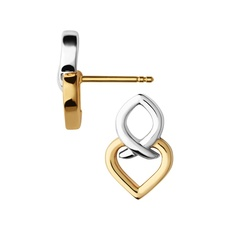 Links of London Sterling Silver & Vermeil Infinite Love Stud Earrings 5040.2820