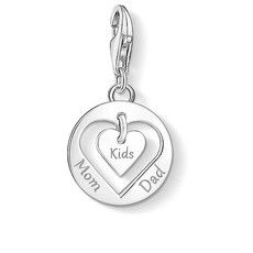 Thomas Sabo Charm Club Sterling Silver Mom, Dad & Kids Hearts Charm 1454-001-21