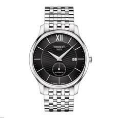 Tissot Tradition Small Seconds Black Dial Stainless Steel Mens Watch T0634281105800