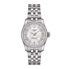 Tissot Ballade Lady Mother of Pearl Dial Stainless Steel Powermatic 80 COSC Chronometer Womens Watch T1082081111700