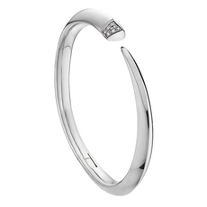 Shaun Leane Sterling Silver & Diamond Signature Tusk Bangle SLS649