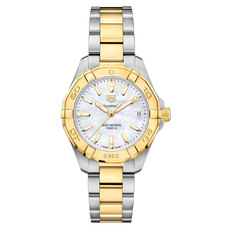 TAG Heuer Aquaracer Lady Mother of Pearl Dial Two Tone Womens Quartz Watch WBD1320.BB0320
