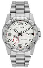 Citizen Eco-Drive Power Reserve Silver Dial Stainless Steel Mens Watch AW7031-54A