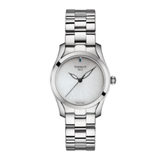 Tissot T-Wave II Silver Dial Stainless Steel Womens Quartz Watch T1122101103100