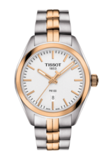 Tissot PR 100 Lady Silver Dial Two Tone Womens Quartz Watch T1012102203101