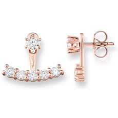 Thomas Sabo Glam & Soul Rose Vermeil & Zirconia Ear Jackets Stud Earrings H1903-416-14