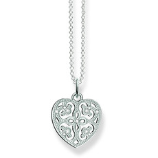 Thomas Sabo Glam & Soul Sterling Silver & Zirconia Ornament Heart Pendant Necklace KE1557-051-14