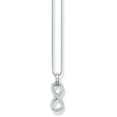 Thomas Sabo Glam & Soul Infinity Sterling Silver & Zirconia Pendant Necklace SCKE150079