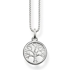 Thomas Sabo Sterling Silver & Zirconia Tree of Life Pendant Necklace SCKE150145