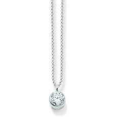 Thomas Sabo Glam & Soul Sterling Silver & Zirconia Pendant Necklace KE1026-051-14