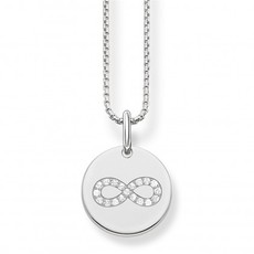 Thomas Sabo Love Bridge Sterling Silver & Zirconia Infinity Necklace Pendant SCKE150167