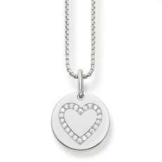 Thomas Sabo Love Bridge Sterling Silver & Zirconia Heart Necklace Pendant SCKE150169