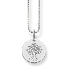 Thomas Sabo Love Bridge Sterling Silver & Zirconia Tree of Life Necklace Pendant SCKE150171