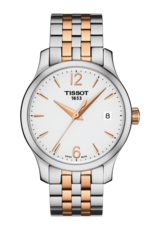 Tissot Tradition Silver Dial Two Tone Womens Quartz Watch T0632102203701