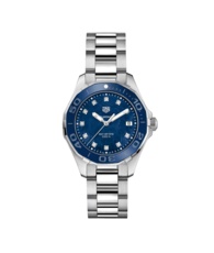 TAG Heuer Aquaracer Lady Stainless Steel Blue Mother of Pearl Diamond Set Dial Womens Quartz Watch WAY131L.BA0748