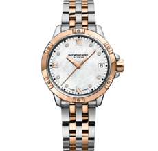 Raymond Weil Tango Mother of Pearl Dial Two Tone Womens Quartz Watch 5960-SP5-00995