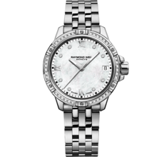 Raymond Weil Tango Mother of Pearl Dial Diamond Set Stainless Steel Womens Quartz Watch 5960-STS-00995
