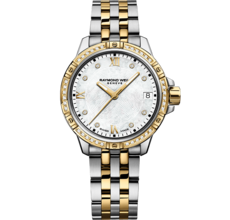 Raymond Weil Tango Mother of Pearl Dial Diamond Set Two Tone Womens Quartz Watch 5960-SPS-00995