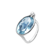 Georg Jensen SAVANNAH Sterling Silver & Blue Topaz Ring 10003055