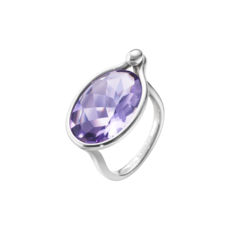 Georg Jensen SAVANNAH Sterling Silver & Amethyst Ring 10003069