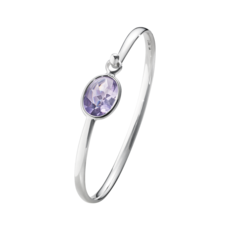 Georg Jensen SAVANNAH Sterling Silver & Amethyst Bangle 10007223
