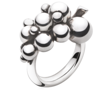 Georg Jensen MOONLIGHT GRAPES Sterling Silver Ring (small) 3558680