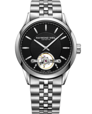 Raymond Weil Freelancer Calibre RW1212 Black Dial Stainless Steel Mens Watch 2780-ST-20001