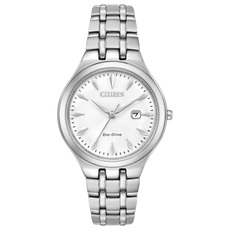 Citizen Eco-Drive Corso White Dial Stainless Steel Womens Watch EW2490-55A
