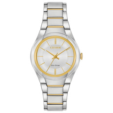 Citizen Eco-Drive Paradigm Silver Dial Two Tone Womens Watch FE2094-51A