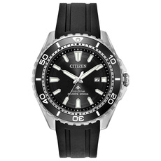 Citizen Eco-Drive Promaster Diver Black Dial Stainless Steel Mens Watch BN0190-07E