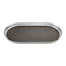 Georg Jensen Living Stainless Steel MANHATTAN Tray With Leather 3586081