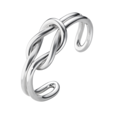 Georg Jensen LOVE KNOT Sterling Silver Bangle (Medium) 10003032