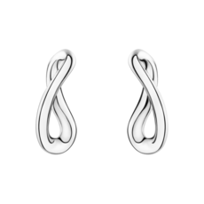 Georg Jensen INFINITY Sterling Silver Earrings 3539284
