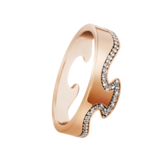 Georg Jensen FUSION 18ct Rose Gold & Diamond End Ring 3570880