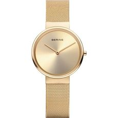 Bering Classic Collection Gold Plated Champagne Dial Womens Quartz Watch 14531-333