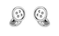 Deakin & Francis Sterling Silver Button Cufflinks C1194X0016