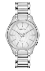 Citizen Eco-Drive Modena Silver Dial Stainless Steel Womens Watch EM0590-54A