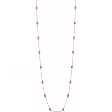 Links of London Rose Vermeil Essentials Beaded Chain Necklace (80cm) 5020.3378