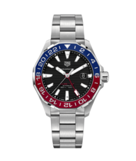TAG Heuer Aquaracer Black Dial Calibre 7 GMT Automatic Stainless Steel Mens Watch WAY201F.BA0927