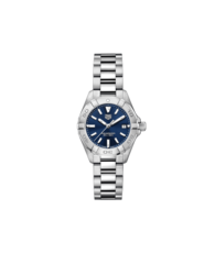 TAG Heuer Aquaracer Stainless Steel Blue Dial Womens Quartz 27mm Watch WBD1412.BA0741