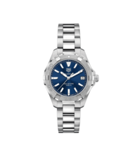 TAG Heuer Aquaracer Stainless Steel Blue Dial Womens Quartz 32mm Watch WBD1312.BA0740