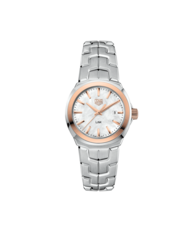 TAG Heuer Link Lady Mother of Pearl Dial Two Tone Womens Quartz Watch WBC1350.BA0600