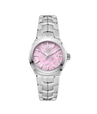 TAG Heuer Link Lady Pink Mother of Pearl Dial Stainless Steel Womens Quartz Watch WBC1317.BA0600