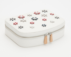 WOLF Blossom White Travel Zip Jewellery Case 467353