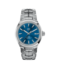 TAG Heuer Link Blue Dial Calibre 5 Automatic Stainless Steel Mens Watch WBC2112.BA0603