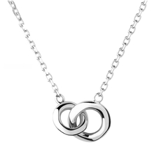 Links of London Sterling Silver 20/20 Interlocking Pendant Necklace 5020.3474