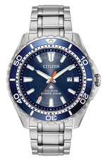 Citizen Eco-Drive Promaster Diver Blue Dial Stainless Steel Mens Watch BN0191-55L